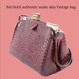 Vintage bag with authentic snake skin VINTAGE